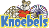 Preview of Knoebels Logo - Blue and Yellow with Rides and Kozmo - AI