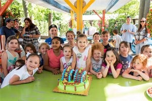 Group of children at a birthday party