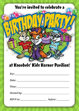 Knoebels Kids Korner Birthday Invitation