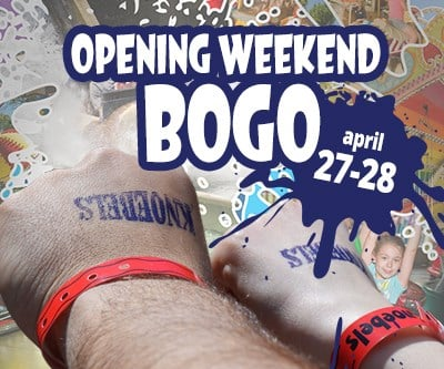 Opening Weekend Buy One Get One Free April 27 and 28