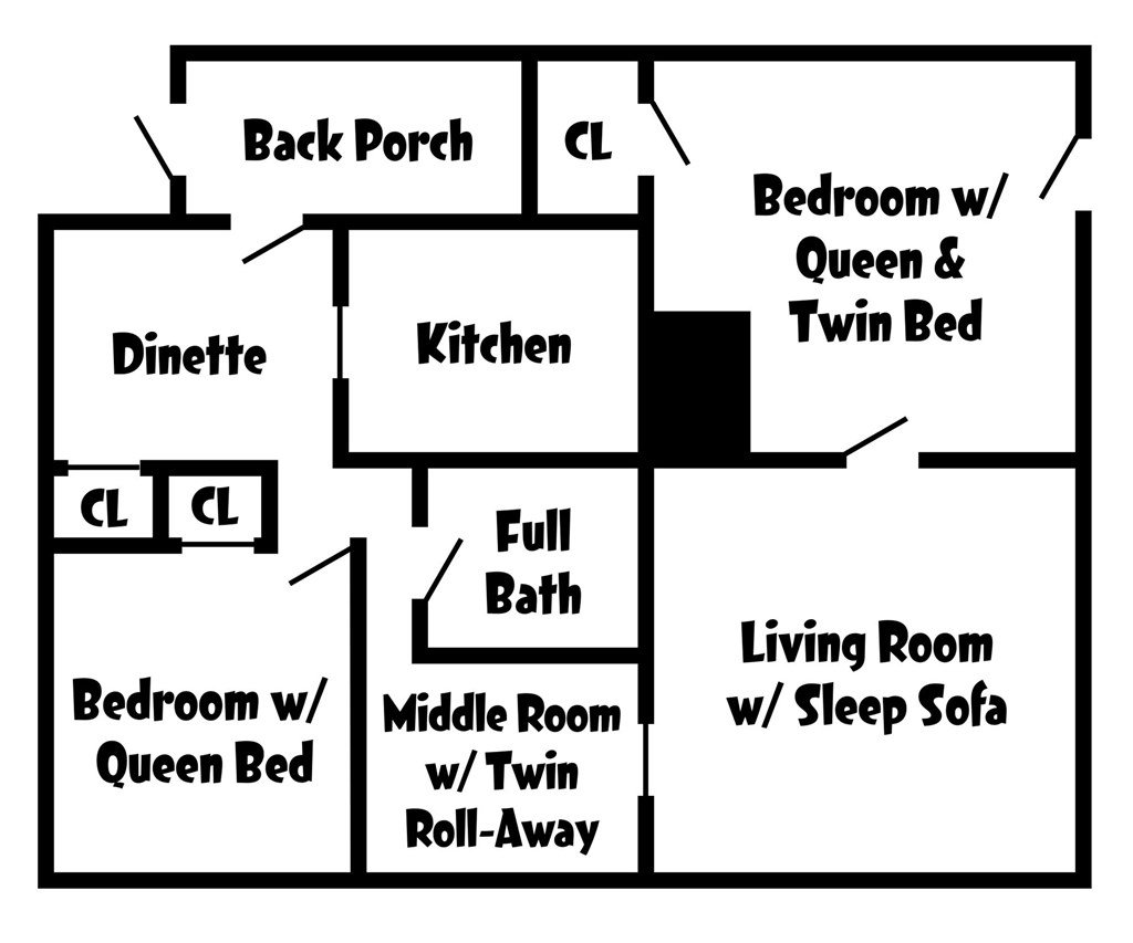 Latorre House Bed & Breakfast Apartment Floor Plan