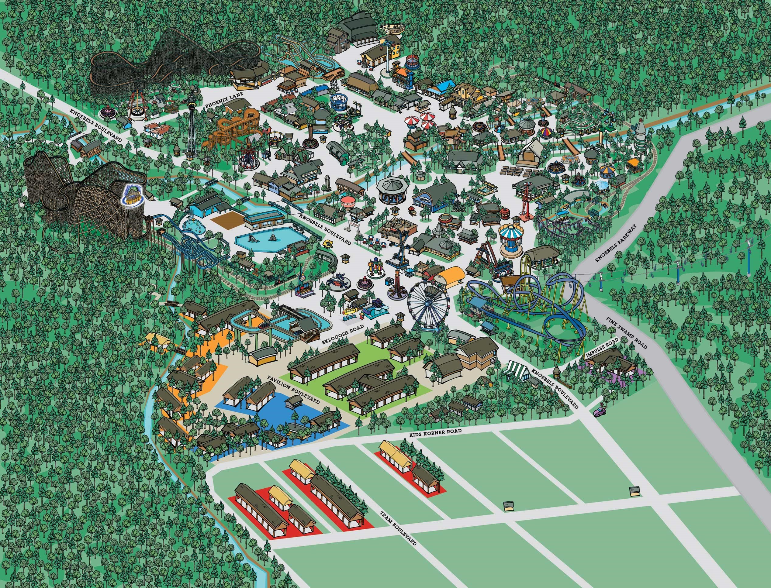 Park Map | Knoebels Amut Resort Knoebels Map on kennywood map, frontier city map, adventureland map, seabreeze map, carowinds map, fun spot map, blackpool pleasure beach map, great escape map, waldameer map, knott's berry farm map, ghost town in the sky map, michigan's adventure map, cedar point map, six flags map, sesame place map, kings dominion map, wild adventures map, kings island map, delgrosso's map, kiddieland map,